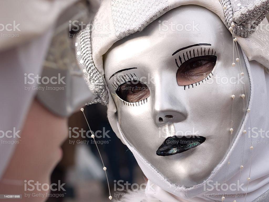 White masks royalty-free stock photo