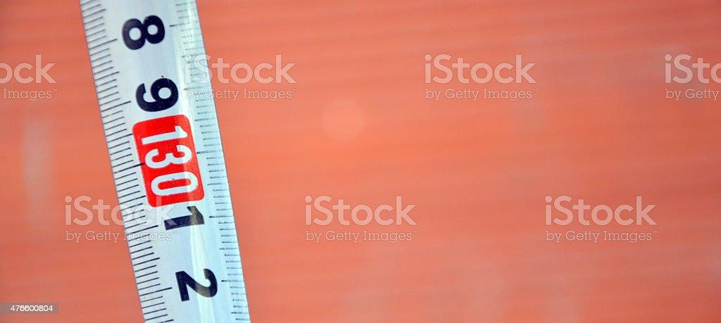 White measure tape stock photo