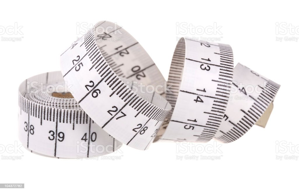 White measuring tape royalty-free stock photo