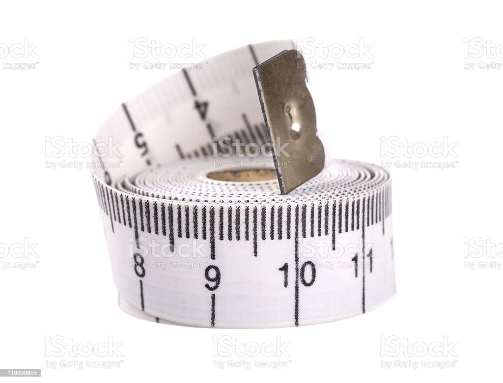 White measuring tape royalty-free stock photo