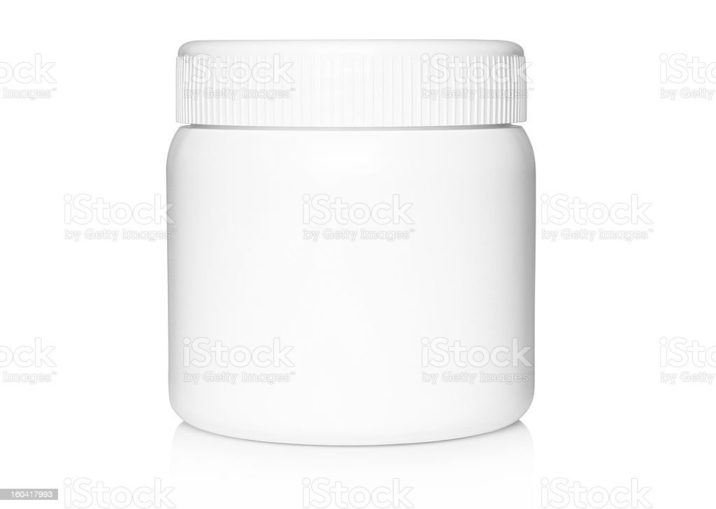 White medical container stock photo