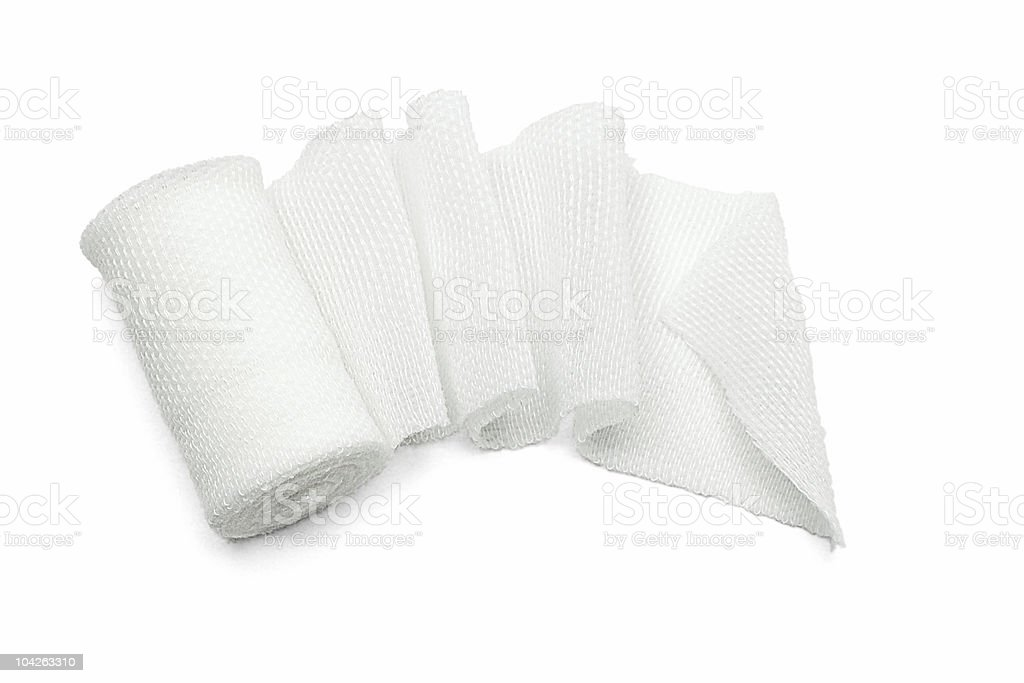 White medical gauze bandage stock photo