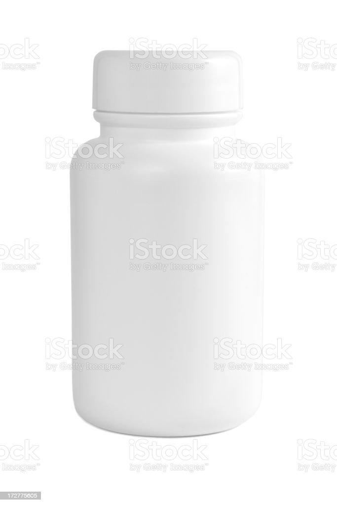 White medicine bottle royalty-free stock photo