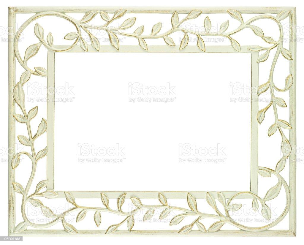 White metal frame stock photo