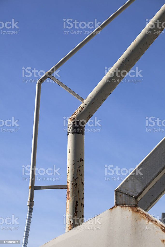 White Metal Pipes at an Industrial Site royalty-free stock photo