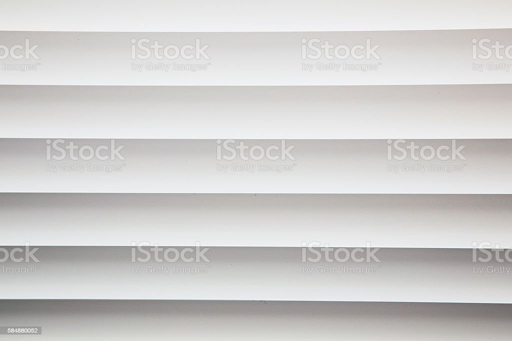 White metal window blinds close-up stock photo