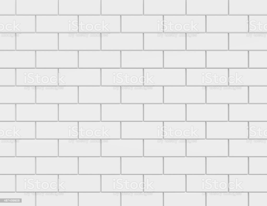 White metro tiles stock photo