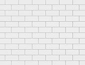 White metro tiles