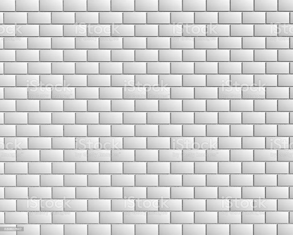 White metro tiles stock photo