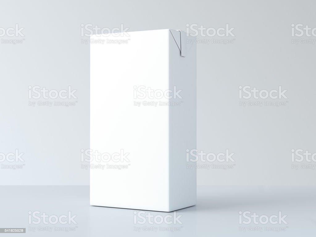 White milk package. 3d rendering stock photo