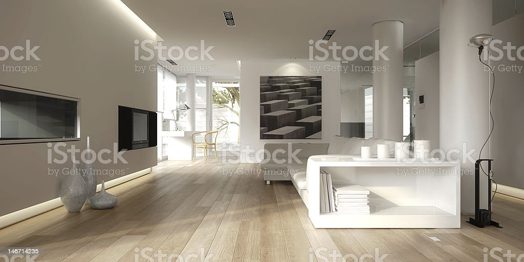 White minimalist interior royalty-free stock photo