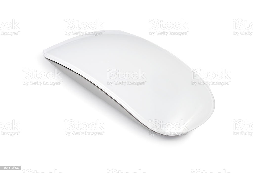 White minimalist mouse on white background stock photo