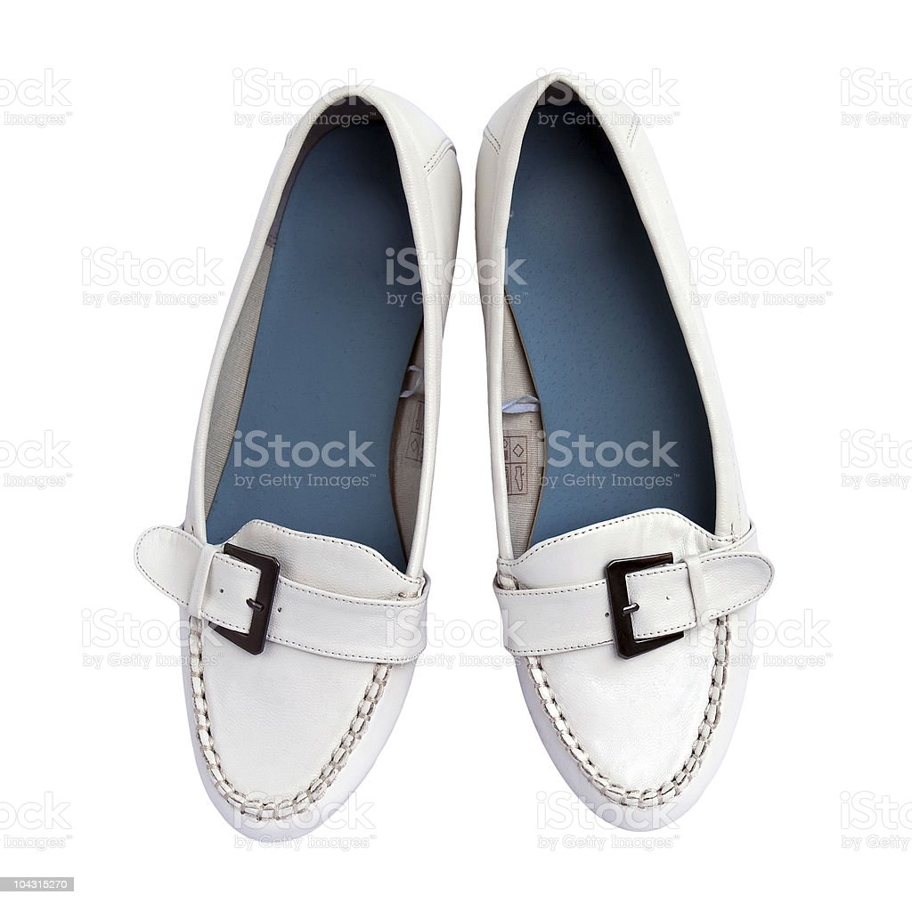 White moccasins royalty-free stock photo
