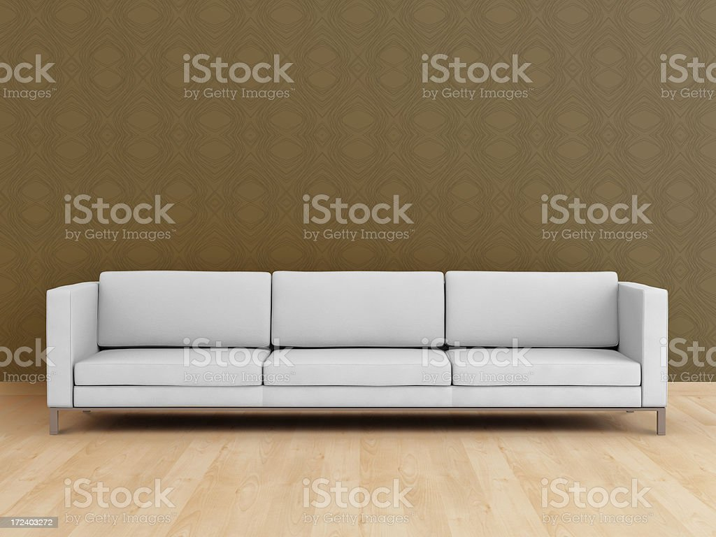 White modern sofa (XXL) stock photo