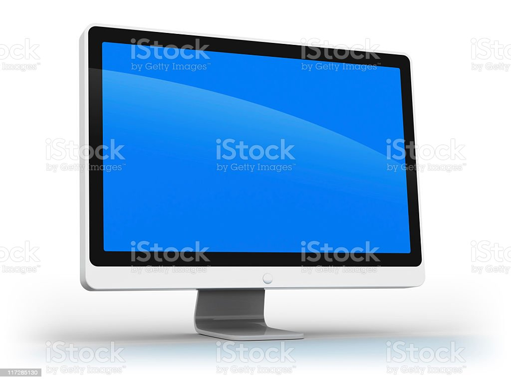 white monitor royalty-free stock photo