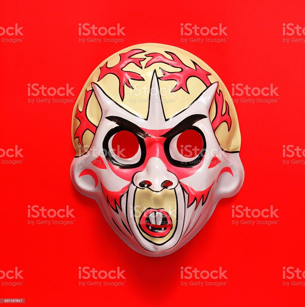 White Monster Mask stock photo