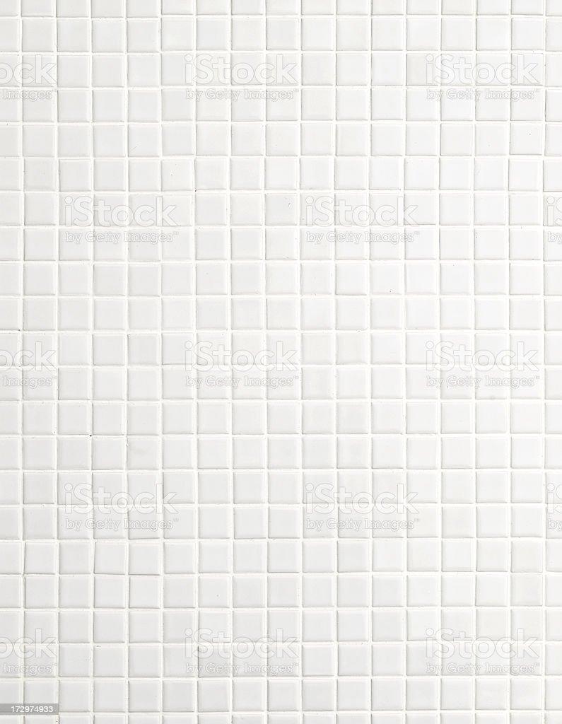 white mosaic tiles stock photo