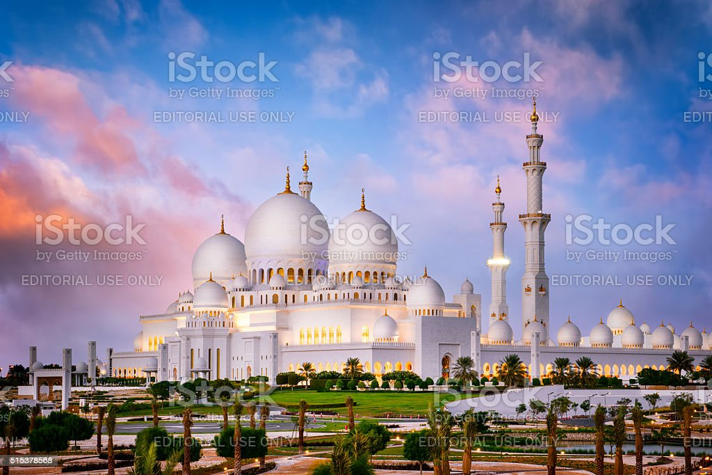 White Mosque stock photo