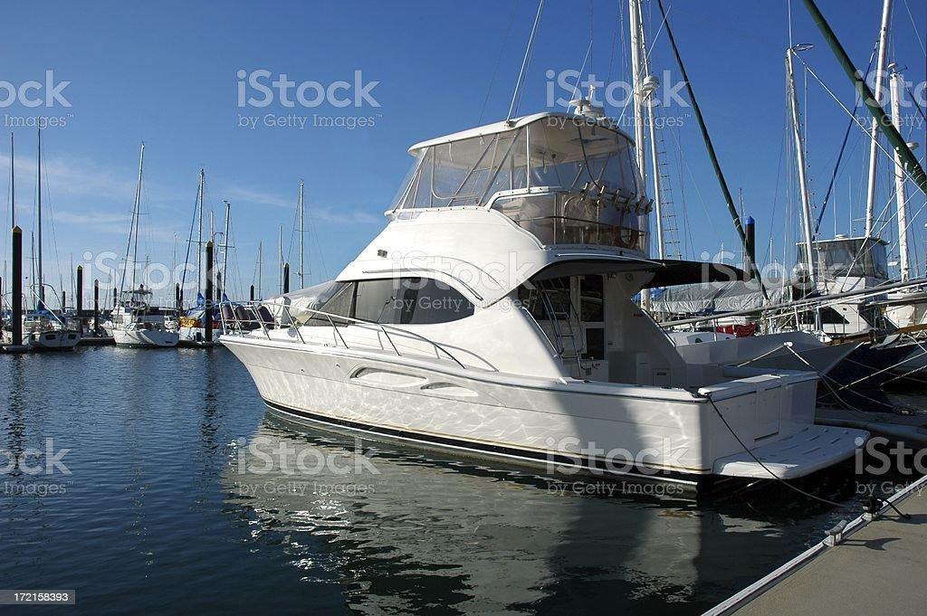 White Motor Boat royalty-free stock photo