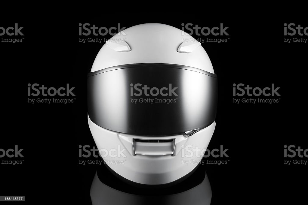 White Motorcycle Helmet royalty-free stock photo