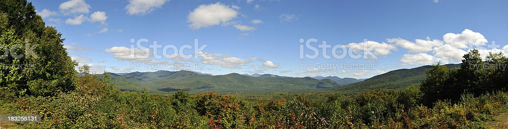White Mounatins of NH from Bear Notch Road (Pano) stock photo