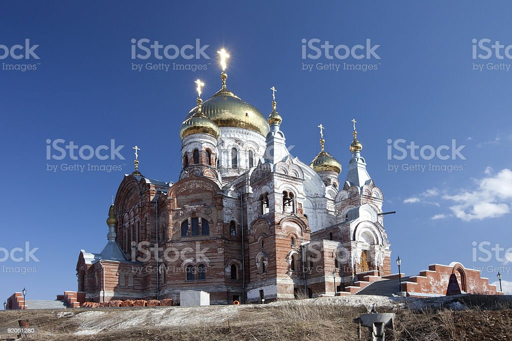 White Mount Piously Nikolaev orthodox missionary man monastery royalty-free stock photo