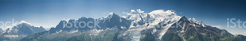 White mountain Alpine vista XXL royalty-free stock photo