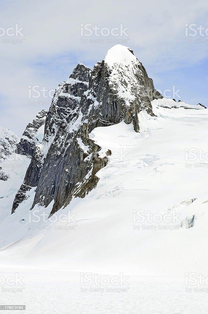 Crête de la montagne blanche photo libre de droits