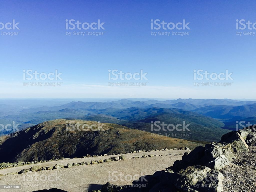 white mountain stock photo