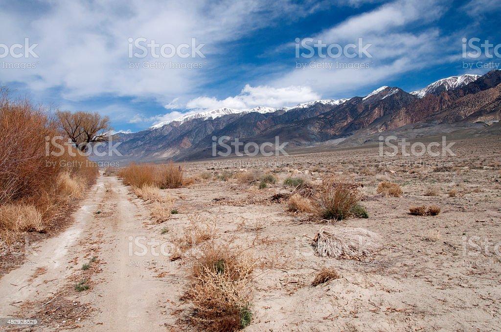 White Mountains Country Road stock photo