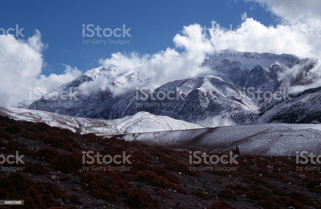 White mountains in the Himalaya. royalty-free stock photo
