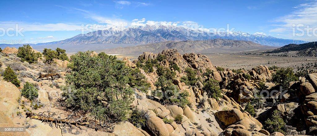 White Mountains panorama stock photo