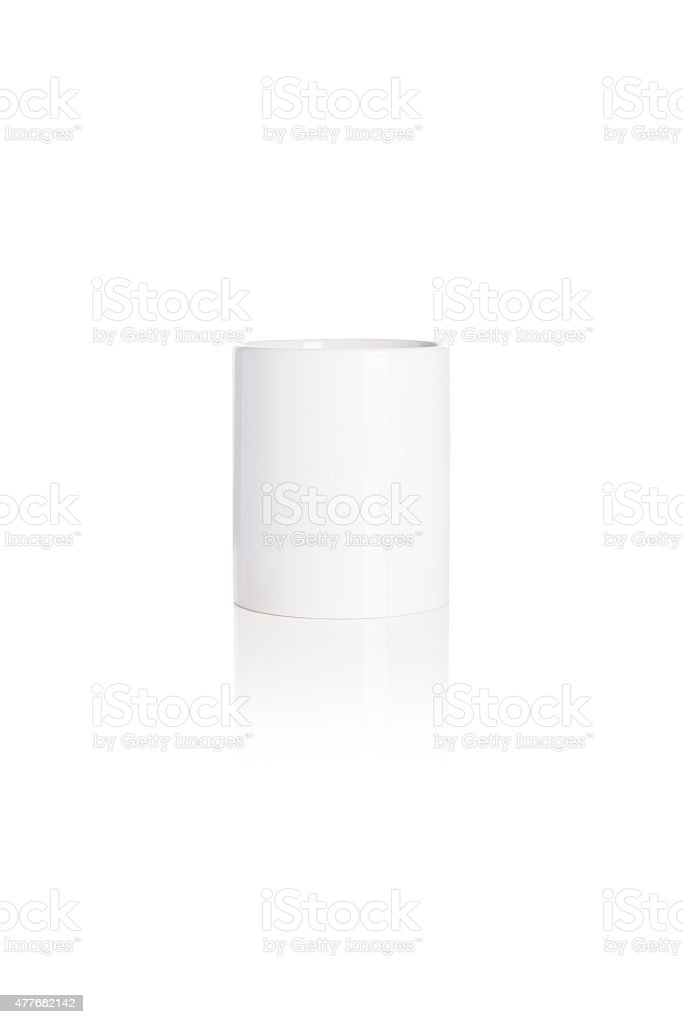 Bianco tazza di foto stock royalty-free