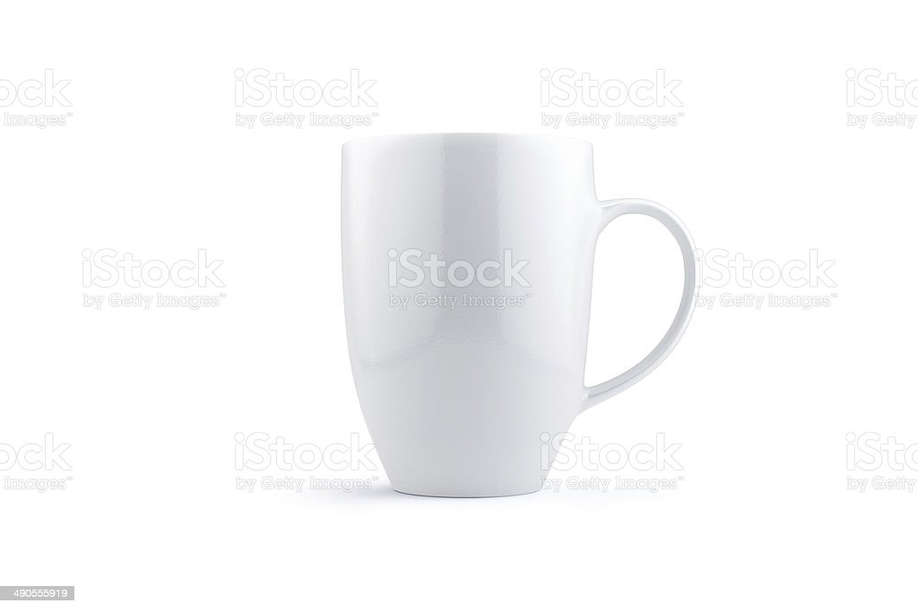 White mug isolated on white stock photo