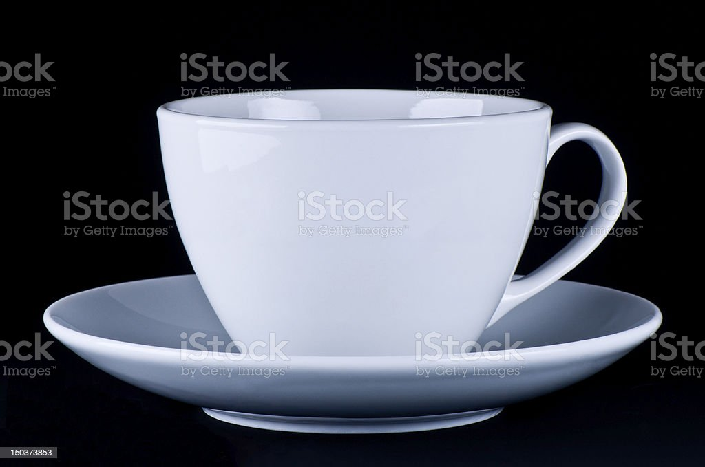 White mug on saucer royalty-free stock photo