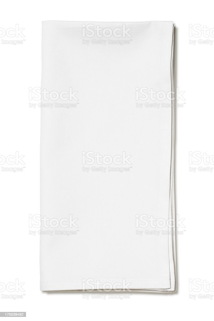 White napkin stock photo