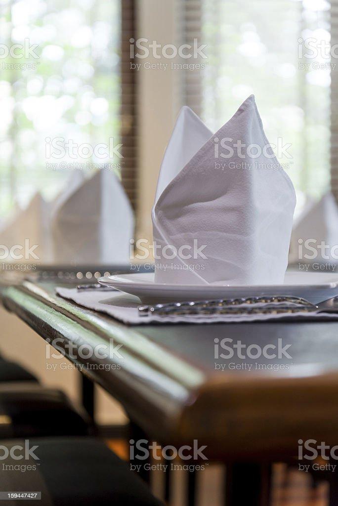 white napkins folded royalty-free stock photo