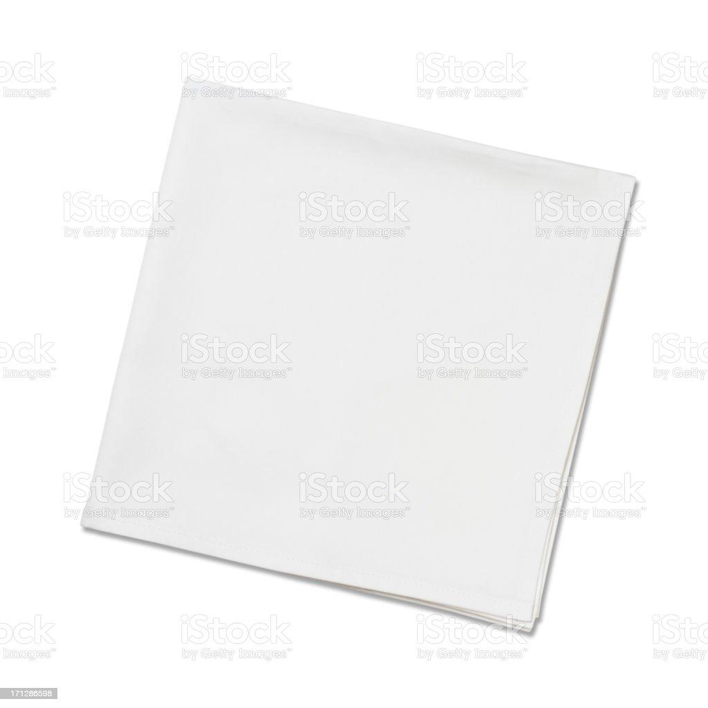 White Napkins royalty-free stock photo
