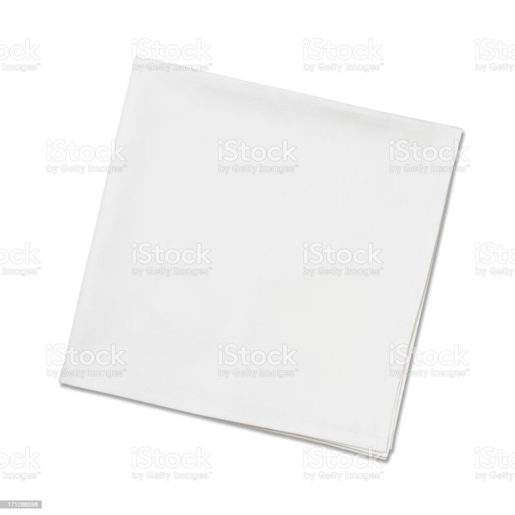 White Napkins stock photo