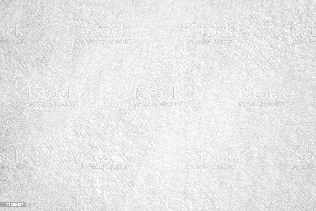 White natural cotton towel closeup background texture stock photo
