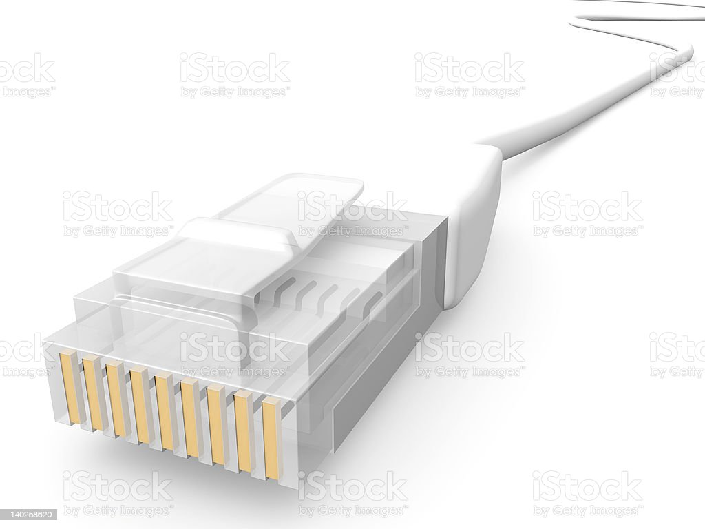 White Network Cable royalty-free stock photo