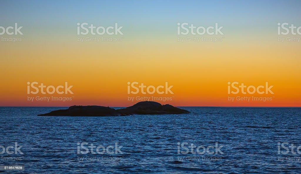 White Night on Lake Onega stock photo