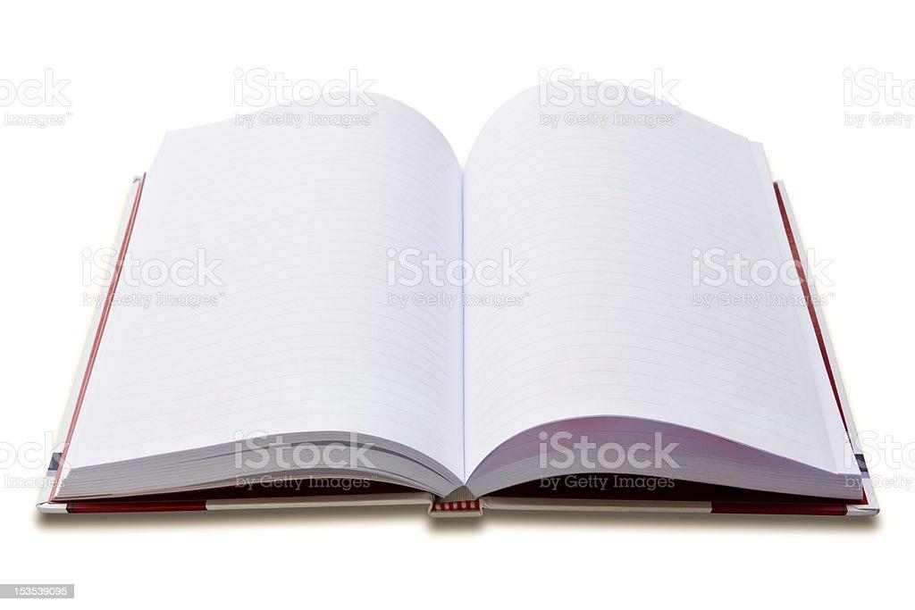 Bianco nota libro isolato foto stock royalty-free