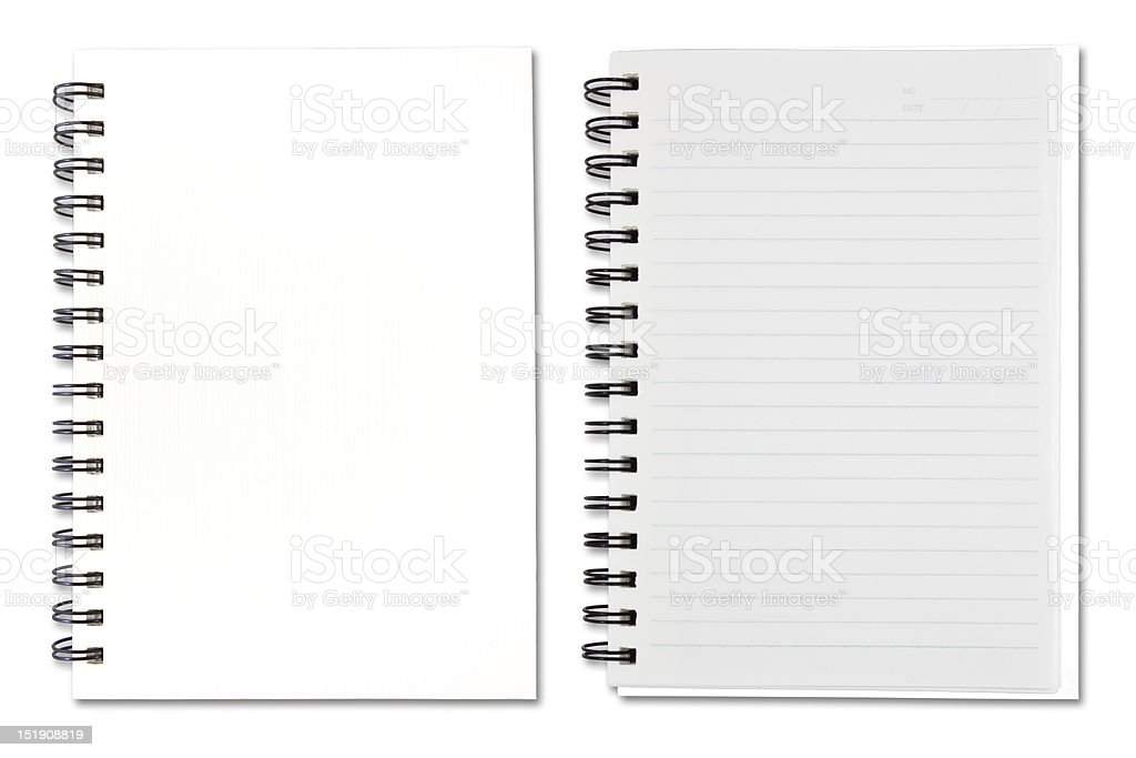White Note Book royalty-free stock photo