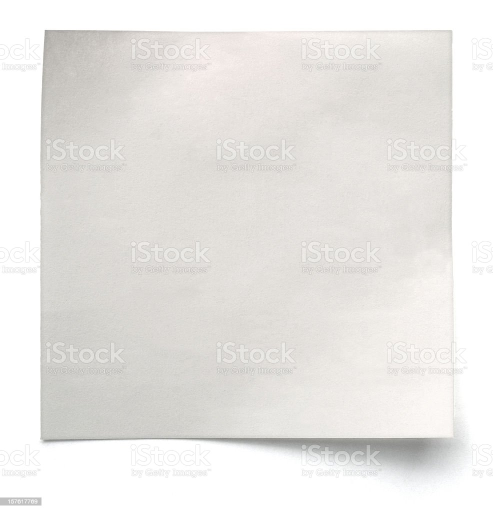 White note paper isolated royalty-free stock photo