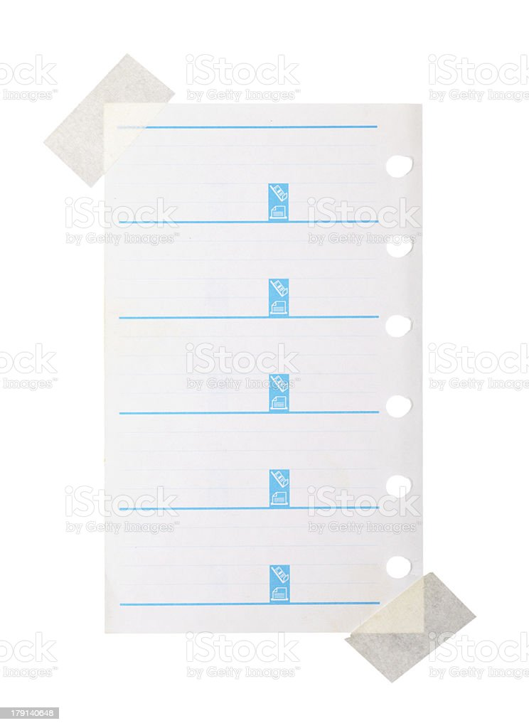 white note paper royalty-free stock photo