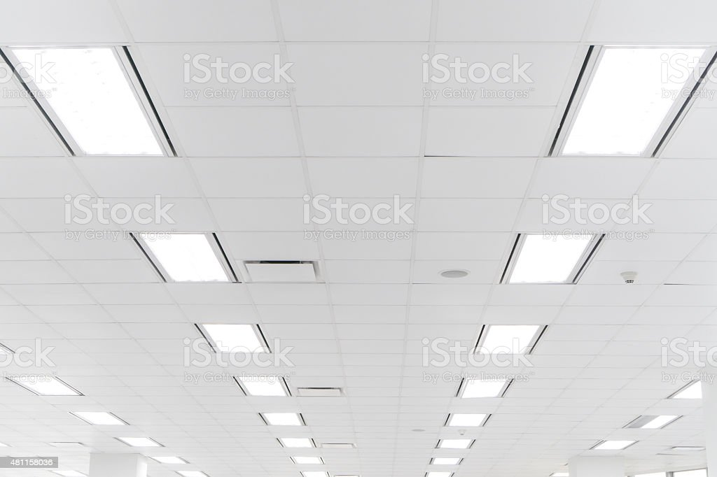 White office ceiling stock photo