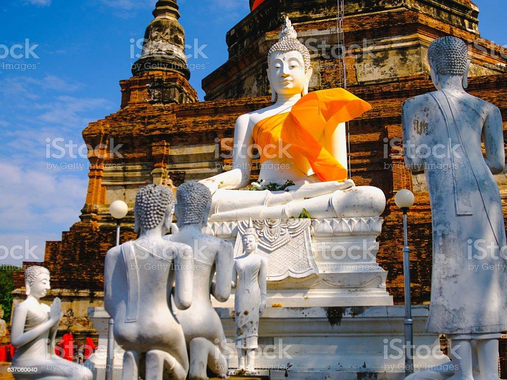 White old buddha statue - fotografia de stock