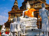 White old buddha statue