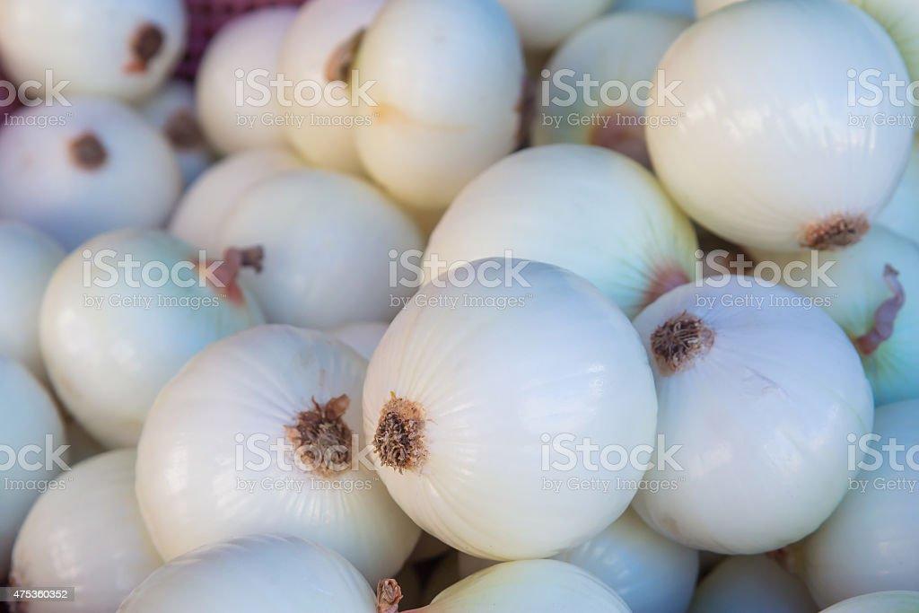 White onion bulb in market,Thailand royalty-free stock photo